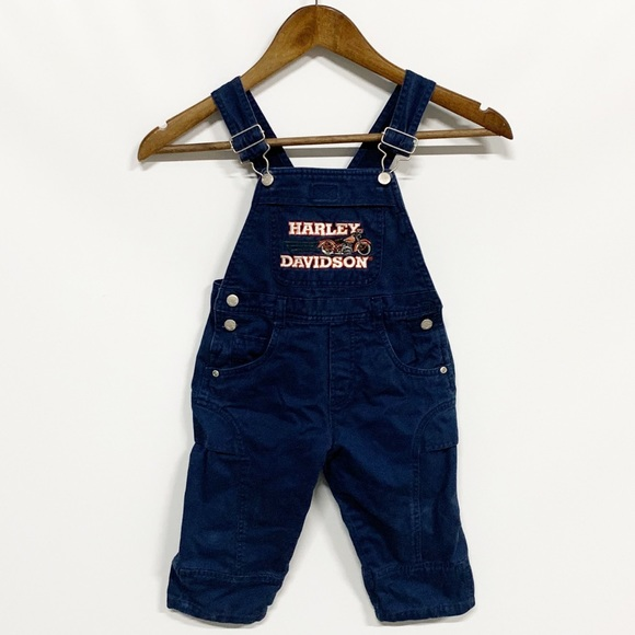 Harley-Davidson Other - Harley-Davidson | Blue Denim Embroidered Overalls
